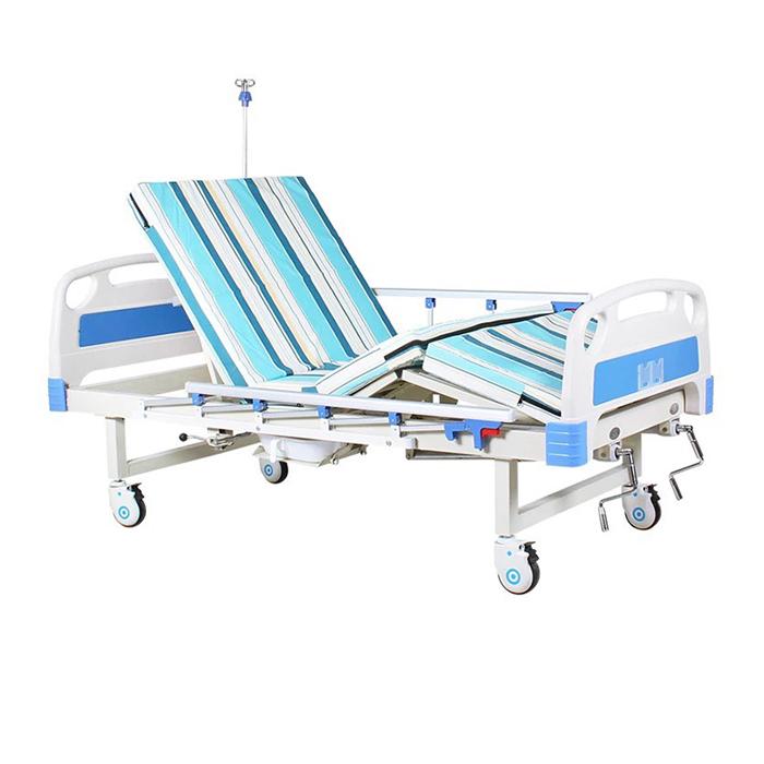 Giường bệnh nhân 3 tay quay có bô vệ sinh LUCASS GB-T43